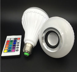 China Bluetooth Music E27 Intelligent Light Bulb With 24 Keys Remote Control Wireless Speaker supplier