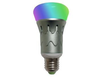 China Iphone Bluetooth Enabled LED Smart Light Bulb RGB 6Watt In Home , Hotel , Office supplier