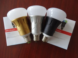 China Dimmable RGB bluetooth led light bulb E27 6 W For Restaurant supplier
