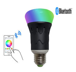 China Home / Office Smart Bluetooth LED Light Bulb 6W Iphone and Android Devices supplier