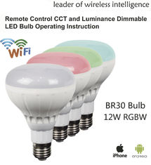 China Bluetooth Wireless Intelligent Light Bulb LED BR30 Aluminum PC supplier
