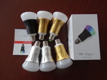 China IP44 RGB LED Bulb Bluetooth Control 2700K - 6500K 120degree distributor