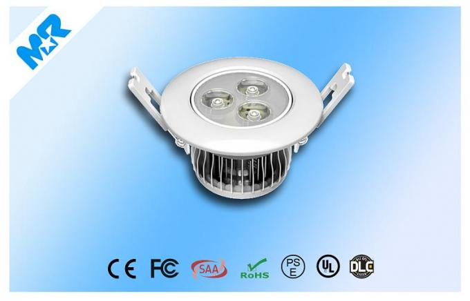 High Power Recessed Led Downlight / Ceiling Light 3watt 30 / 45 / 60 / 90 / 120 Degree Replace 50w Halogen