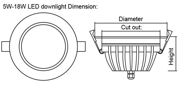 Led downlight ip65 new product waterproof led downlight with EMC 3020 chips high brightness waterproof led downlight