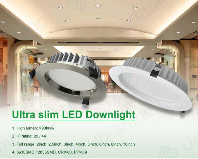 IP54 8 Inch Decoration COB LED Down Light  White Cover For Top 25W - 35W
