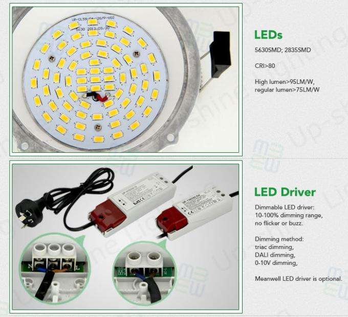 8inch 25W recessed led down light IP54 water proof with 2835 SMD led chip CRI 80 external isolated driver 5 years warranty