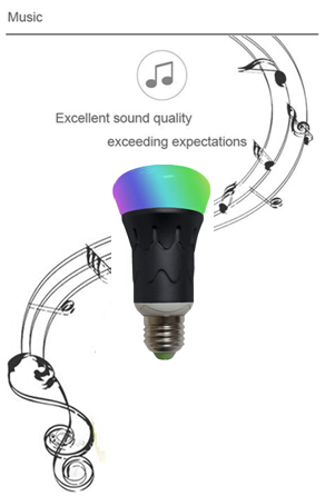 MR RGBW LED Bluetooth Speaker Bulb Dimmable Multicolored Color Changing