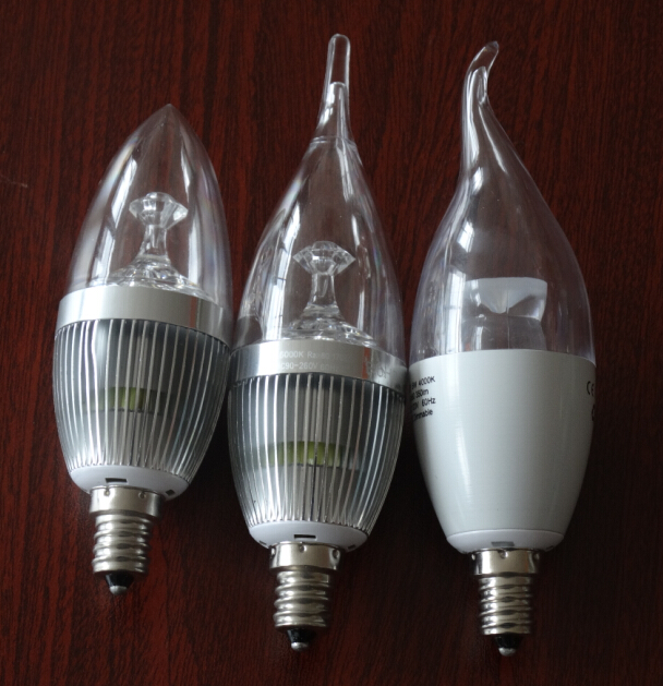 3w - 5w High CRI E21 E14 Led Candle Bulb With Tail To Replace 40w - 75w Halogen