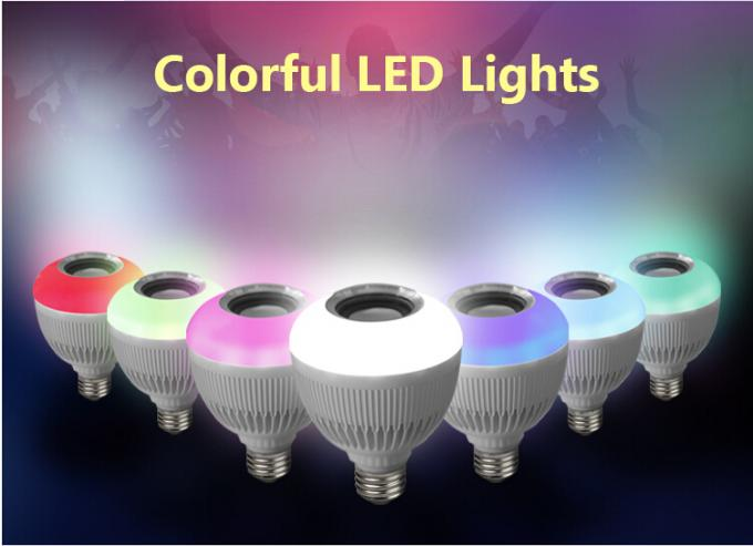 Bluetooth Music E27 Intelligent Light Bulb With 24 Keys Remote Control Wireless Speaker