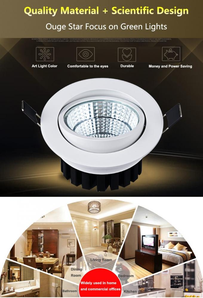 Professional 7W LED COB high luminous 90lm/w led ceiling light led down light 95mm size Size 108*H55mm